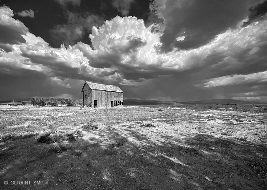 San Luis Valley, Red Barn, Black and White