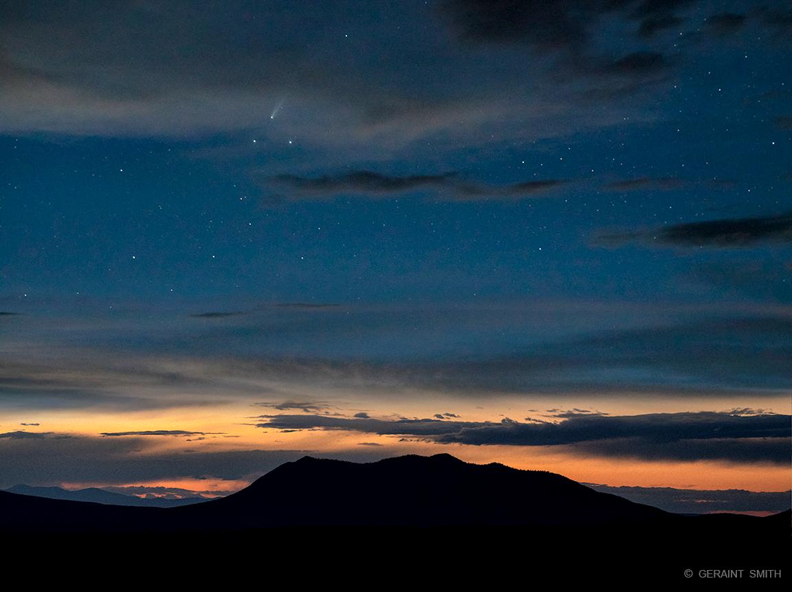 Comet, Sky, Volcano, Stars, NM