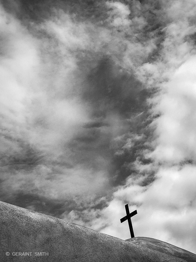Talpa Chapel, Black Cross, Clouds, Sky
