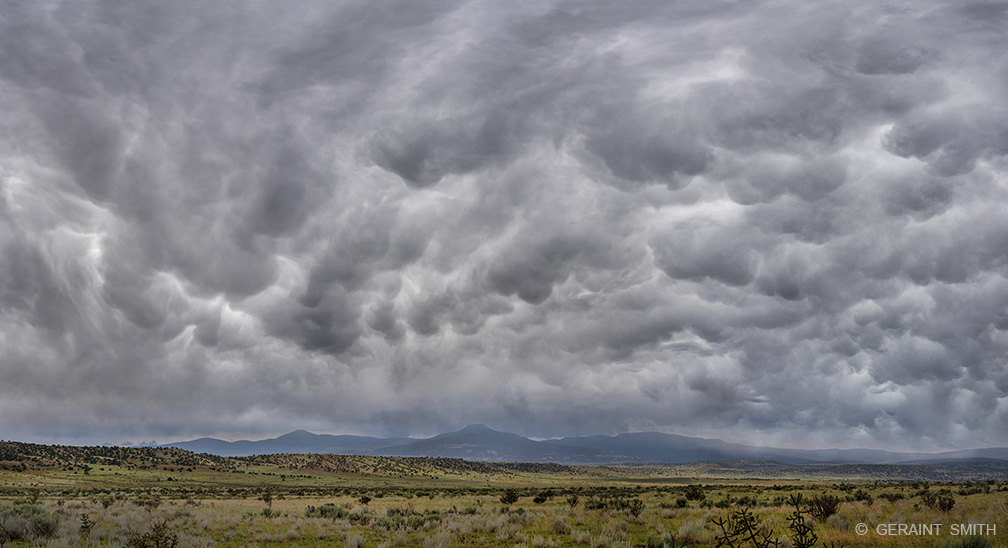 Cerro Pedernal, Storm Clouds, Rio Chama, New Mexico