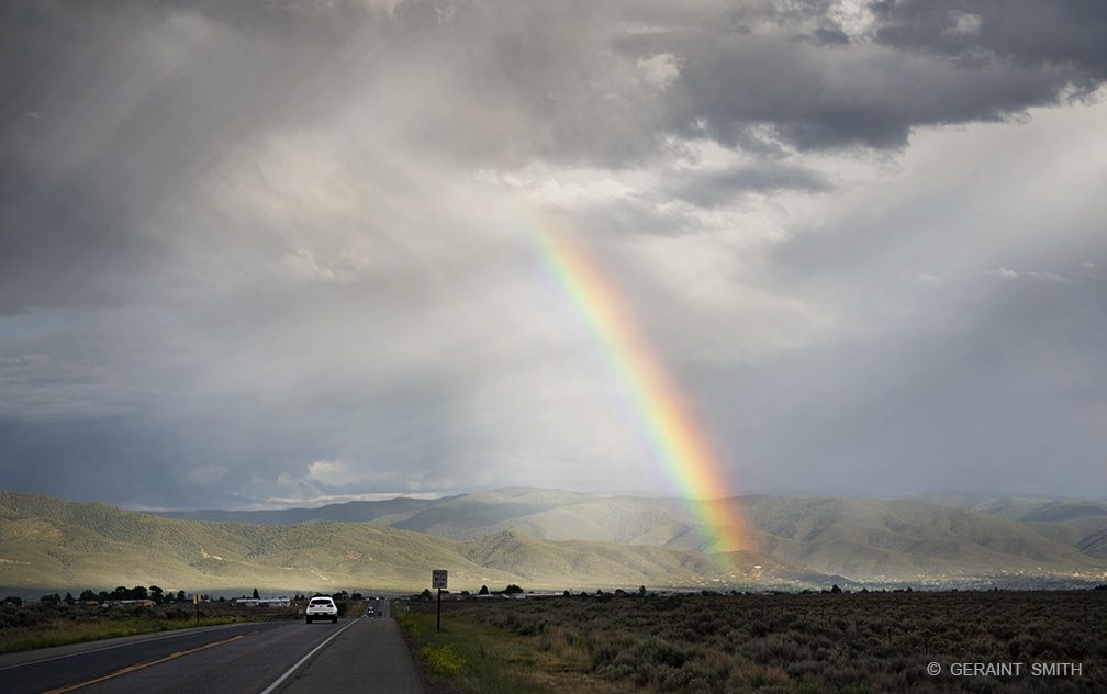 Rainbow, Highway, Taos Valley, New Mexico.
