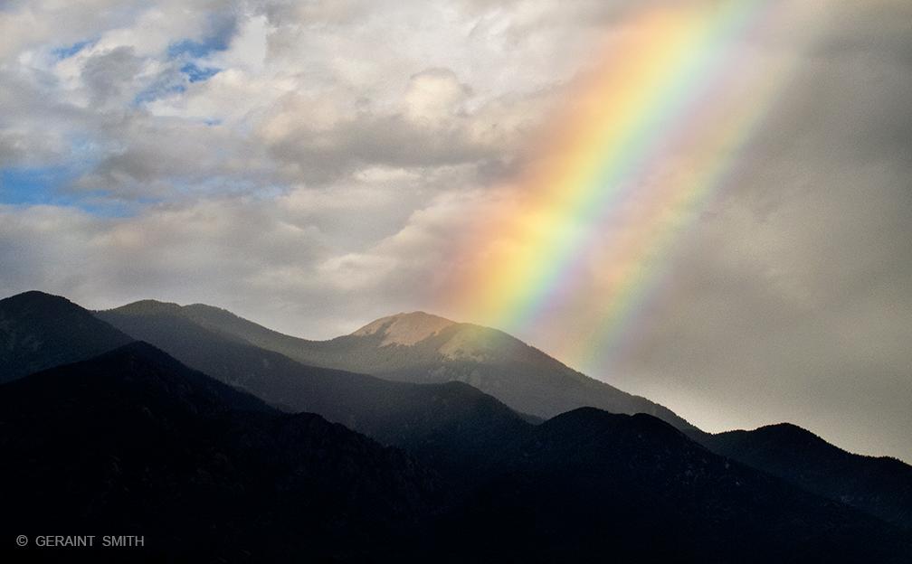 Taos Mountain, Summer Rainbow, Taos, NM