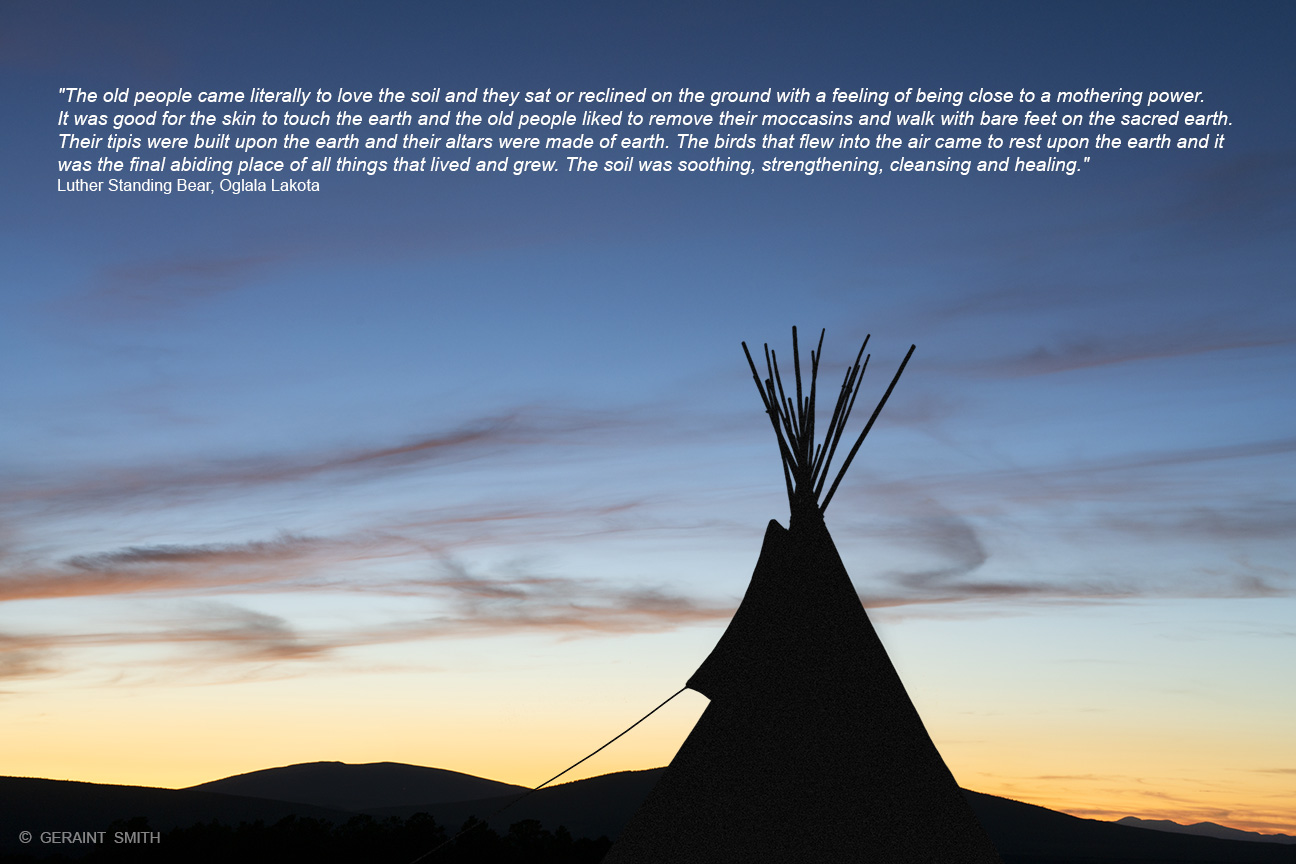 Tipi, Sky, Sunset, A Quote, Lama, NM