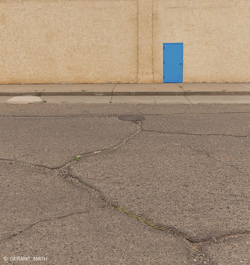 Blue Door, Tucumcari Street, New Mexico.