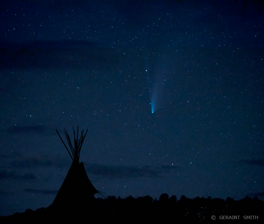 Comet Neowise, tipi and stars. One last view