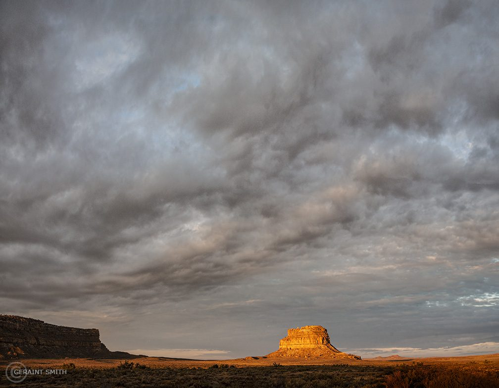 Fajada Butte sunset in Chaco Canyon, New Mexico.