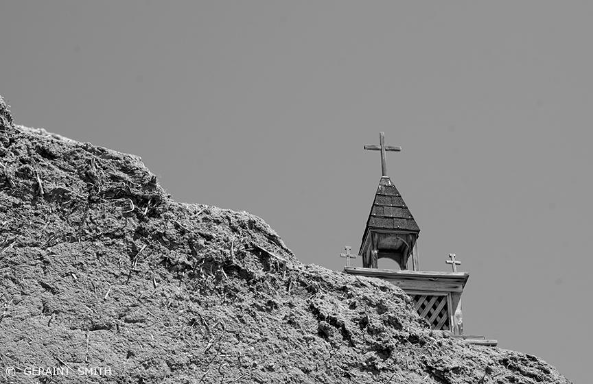 Las Trampas church adobe wall