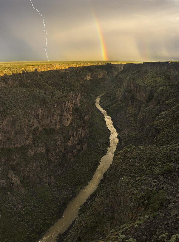 rio grande gorge rainbow lightning 0827