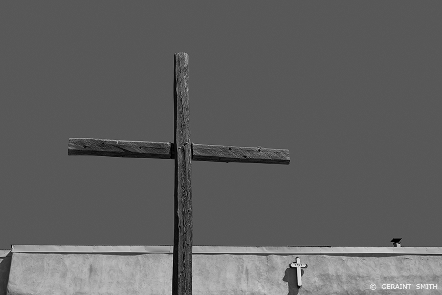 Wooden cross, Morada, Truchas