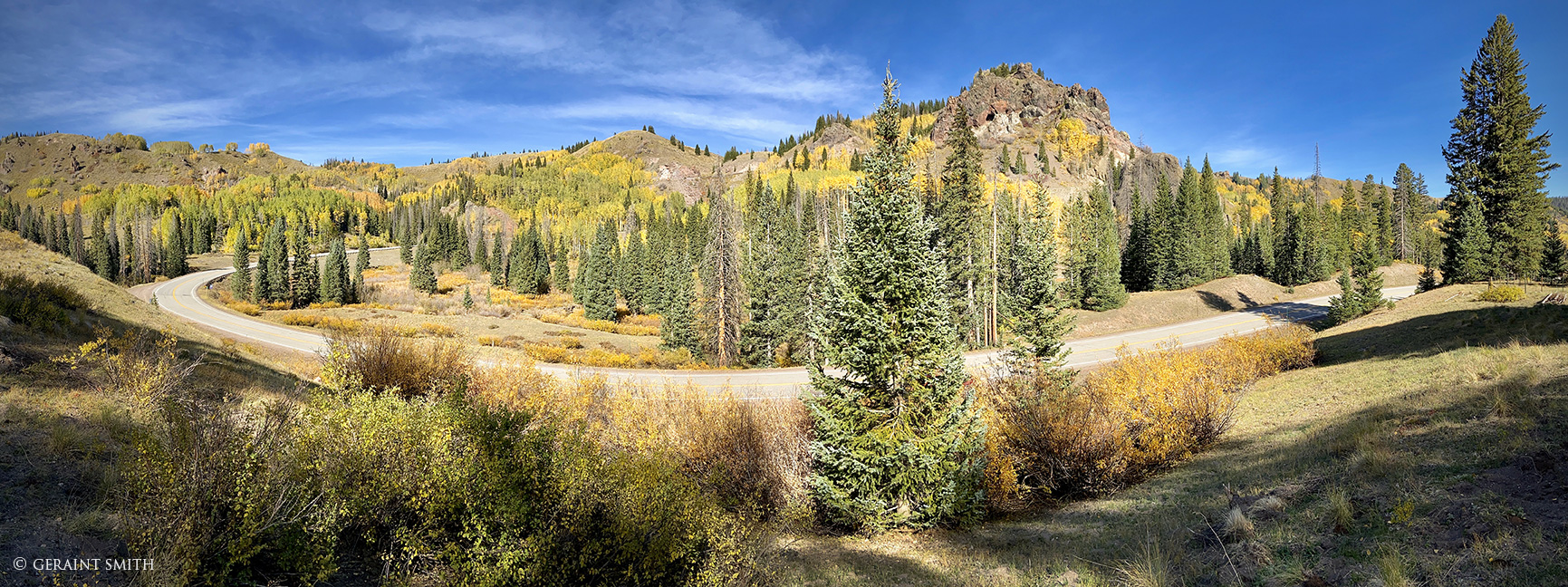 Panorama, Fall Color, Cumbres Pass, Colorado.