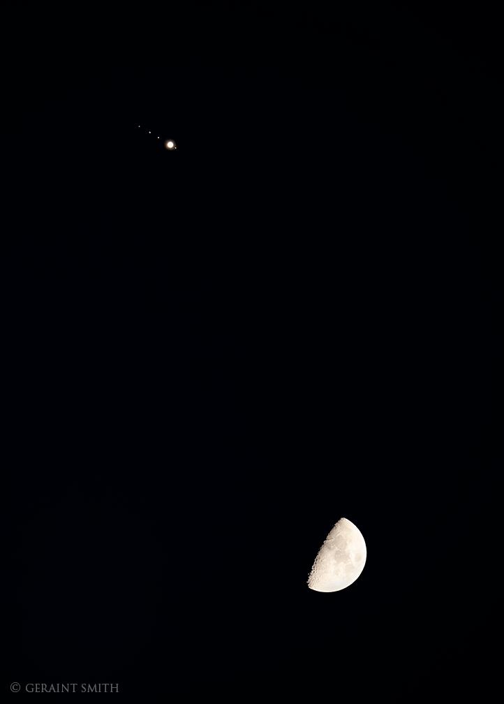 Jupiter, Jupiter's Moons, our Moon.