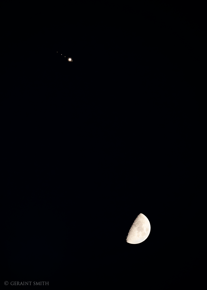 Jupiter, Jupiter's Moons, our Moon.