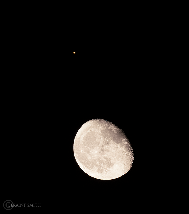 Moon and Mars rising
