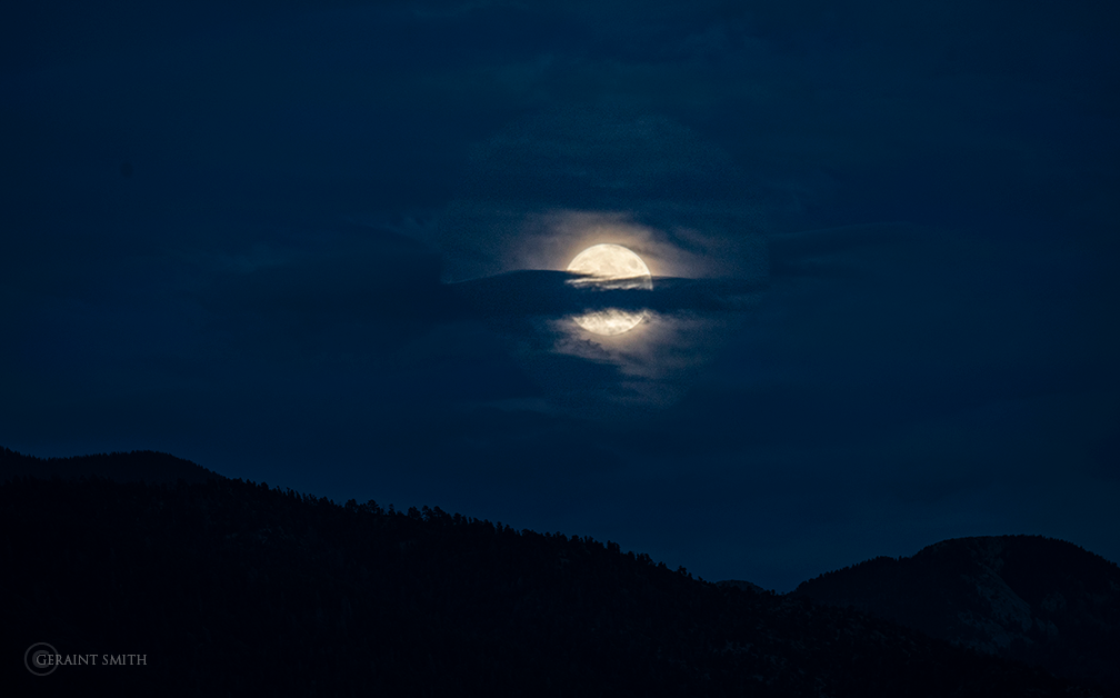 Corn Moon Rising, Sangre De Cristos, New Mexico