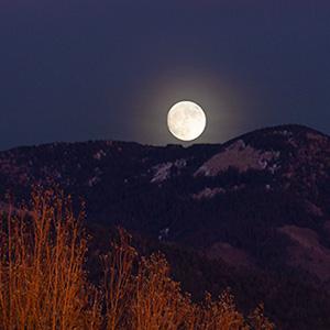Moonrise, Sangre De Cristo Mountains, NM.