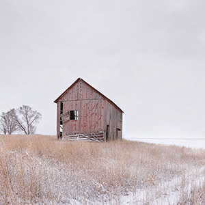 The Red Barn Waiting Out Winter, Colorado