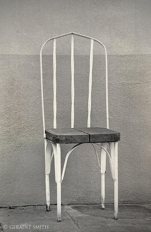 Chair, Santa Fe, New Mexico, flashback, 1985.