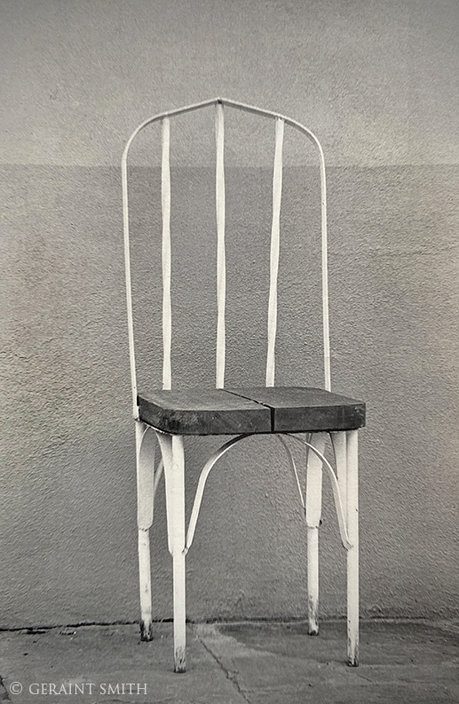 Chair, Santa Fe, New Mexico, flashback, 1985.