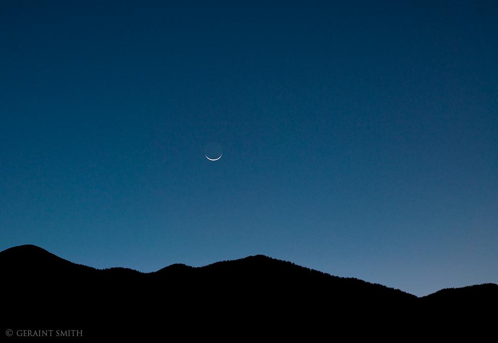 Waning Crescent Moon, Sangre De Cristos, NM