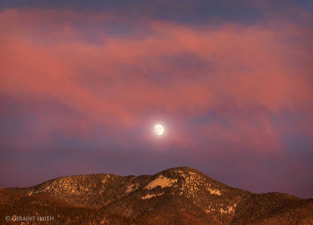 Moon Rise, Sangre De Cristo Mountains, San Cristobal, NM.