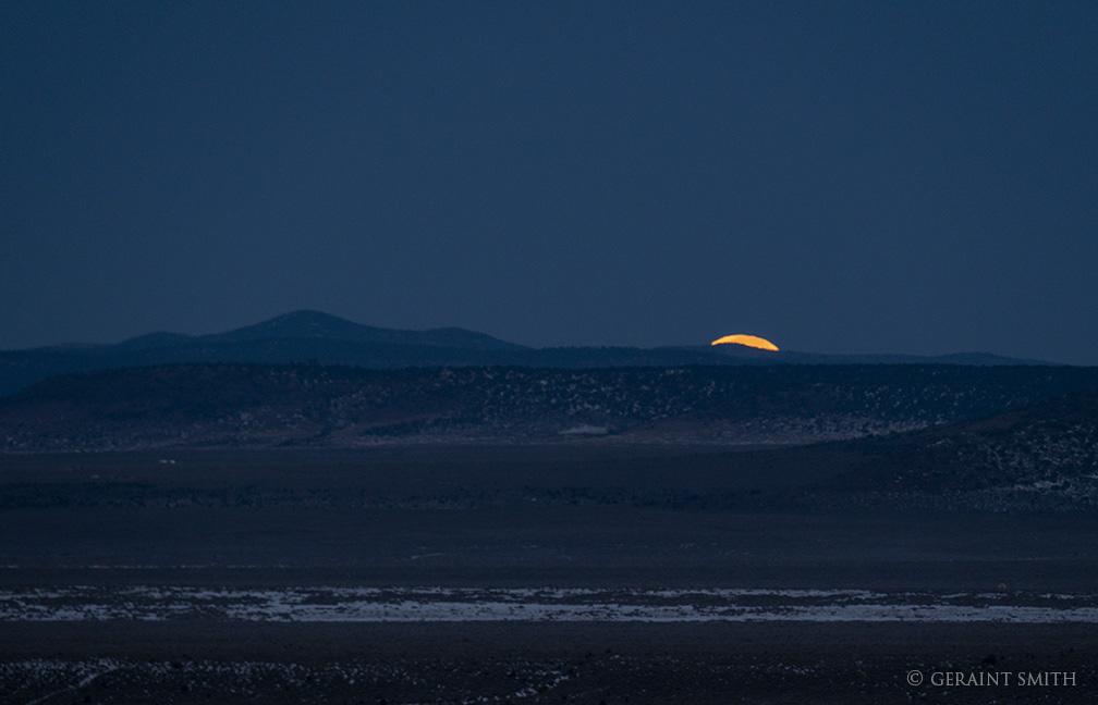 Morning Moonset, Taos Plateau, Volcanic Field