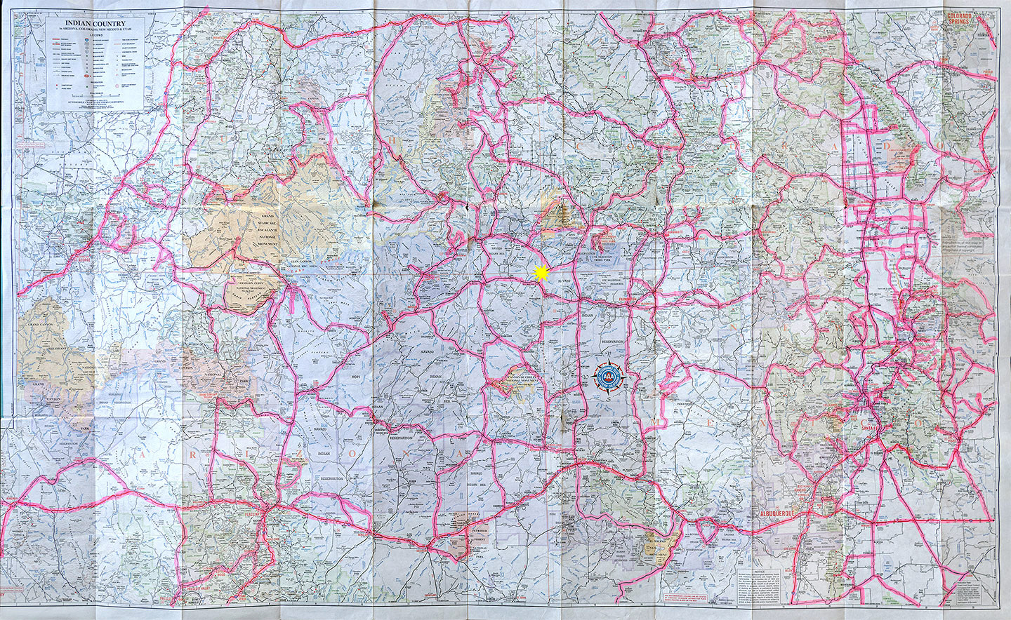 aaa indian country map med 0491