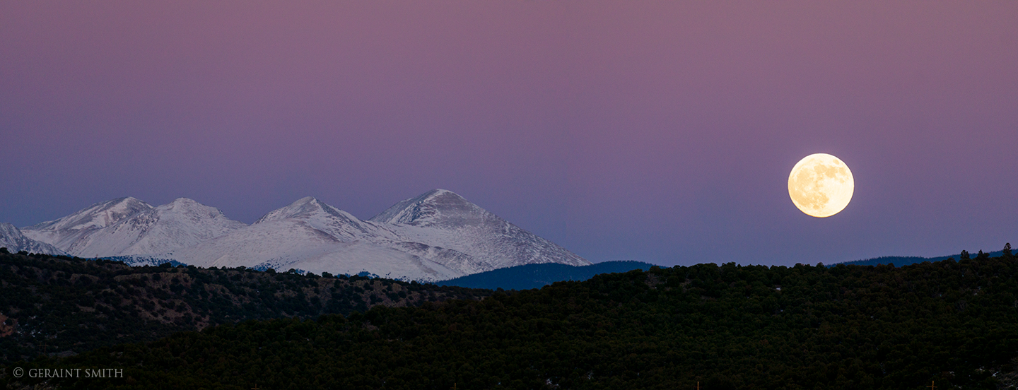 Moonrise, Costilla, New Mexico.