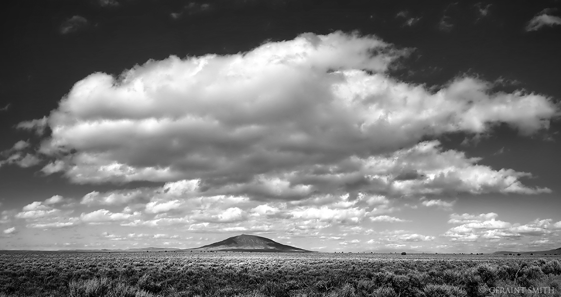 Big cloud over Ute Mountain, New Mexico.