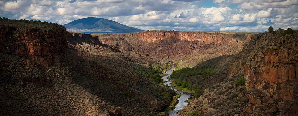 Rio Grande Gorge with Ute Mountain