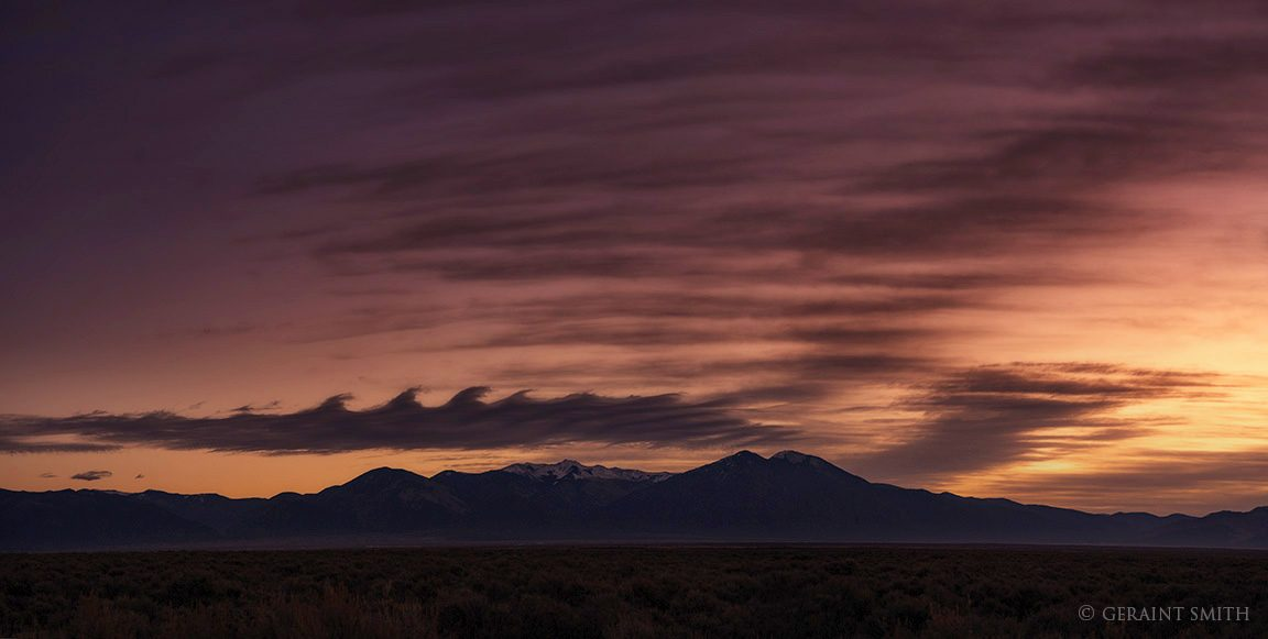 Wave, Surf, Clouds, Dawn, Taos Mountain, NM