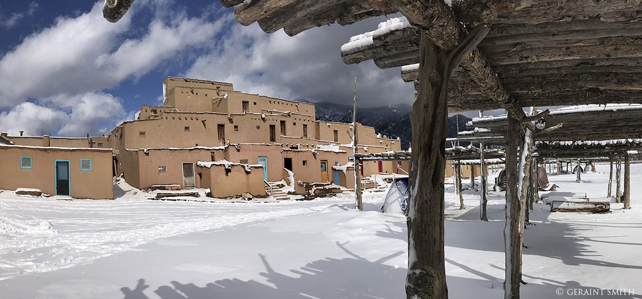 Taos Pueblo, snow, flashback, November 2019.