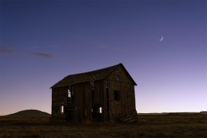 Crescent Moon Red Barn Ute Mountain