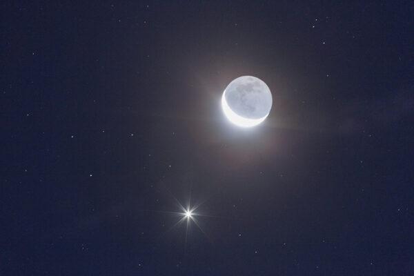 Venus crescent Moon