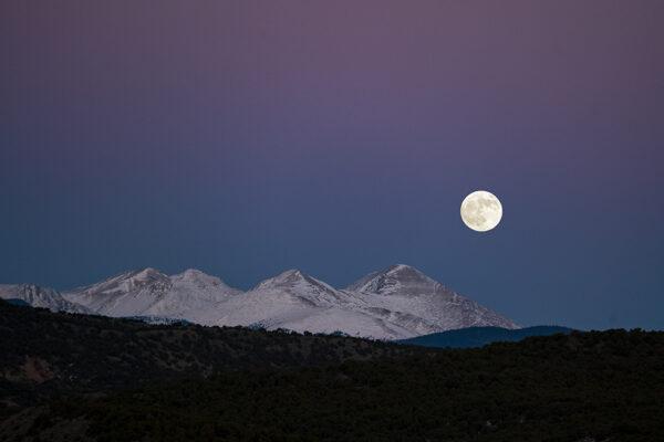Moon rise Sangre de Cristo Mountains