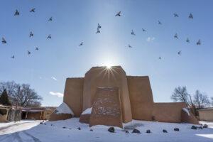 Saint Francis Church Sunrise Birds
