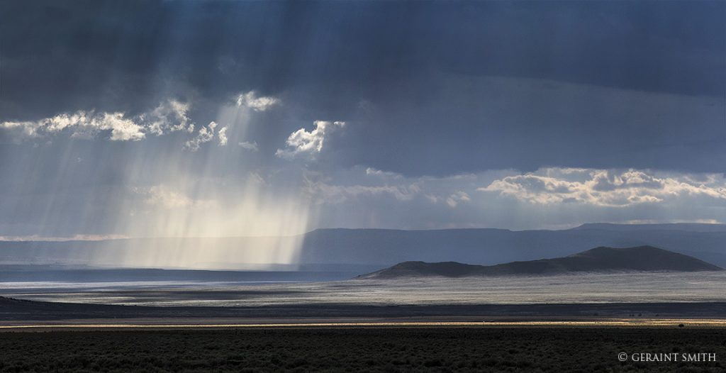 Rain on the plateau in the National Monument
