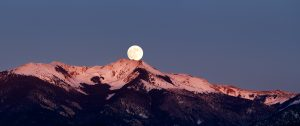 Moonrise Vallecito Mountain Cornwoman