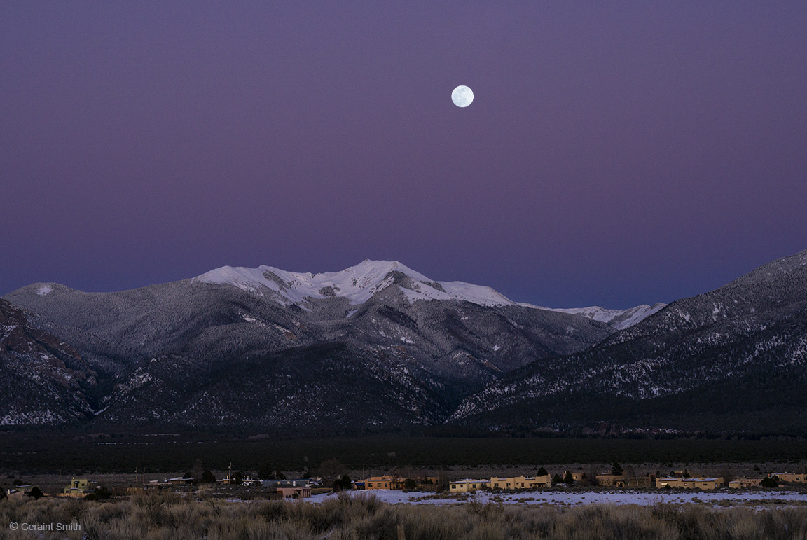 The Wolf Moon, Vallecito Mountain with the area known as Des Montes.