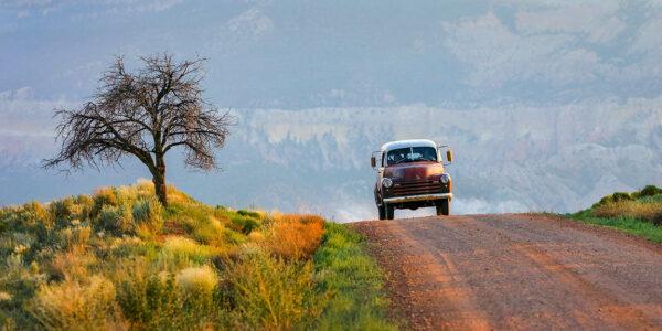 Panel Truck, Desert Road, Abiquiu, NM
