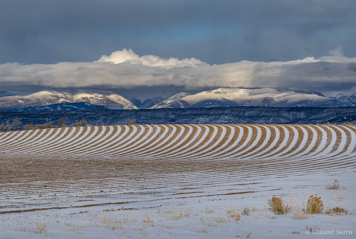 Snow field furrows Sangre de Cristo Mountains, Colorado