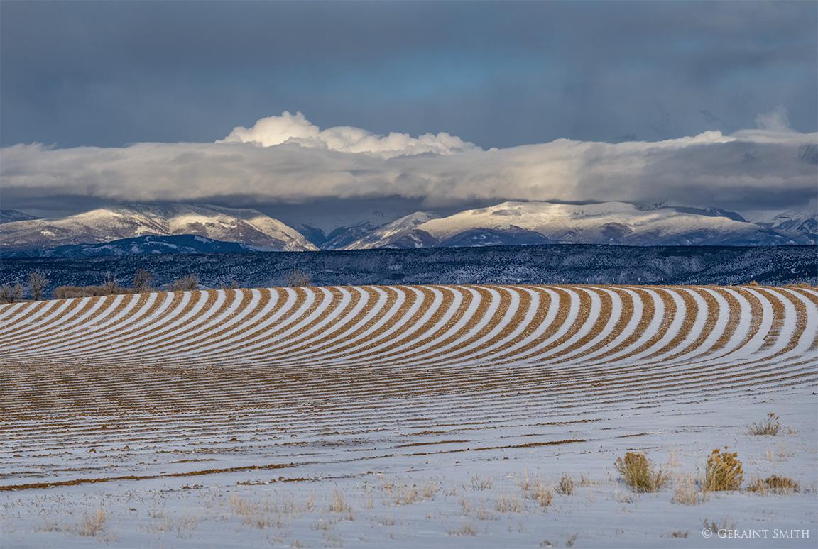 Snow field furrows Sangre de Cristo Mountains, Colorado