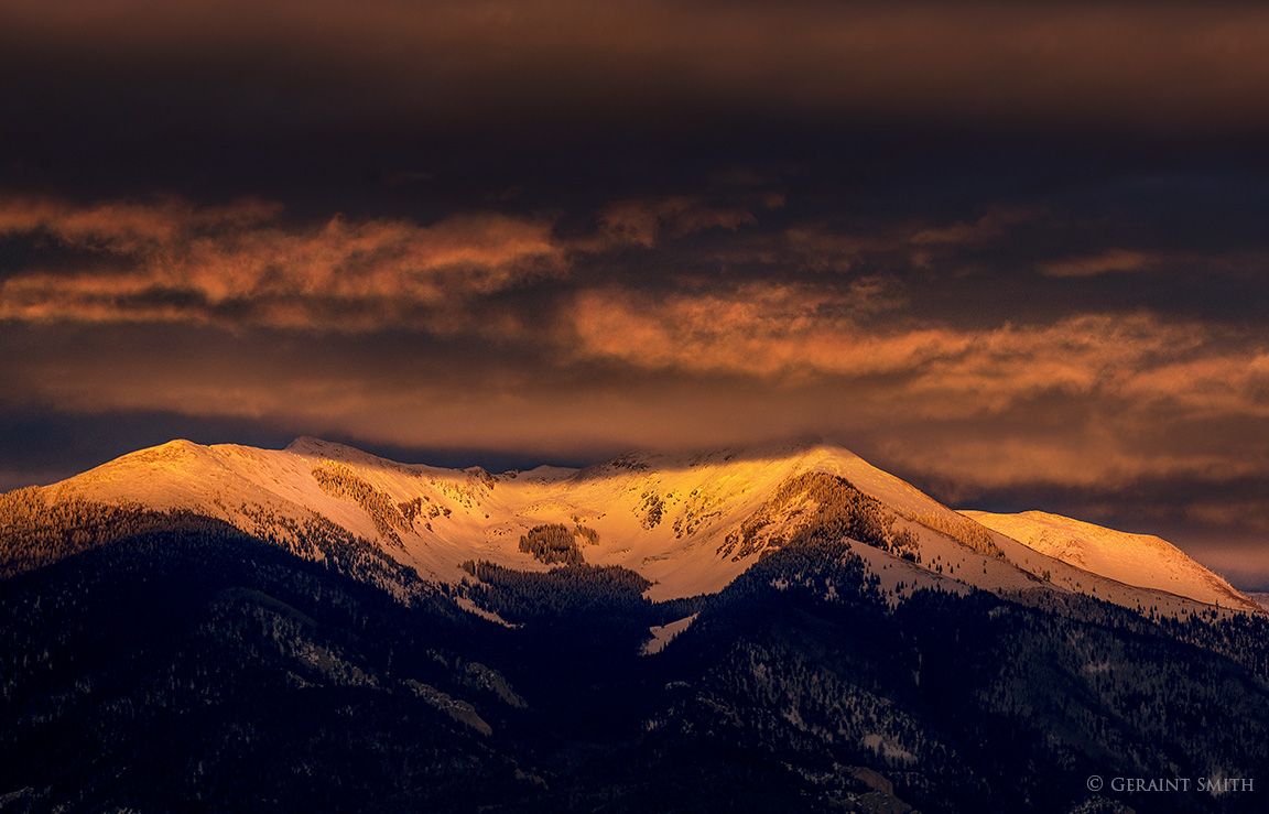 Vallecito Mountain sunset