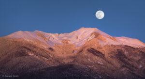 Wolf Moon rising Vallecito Mountain