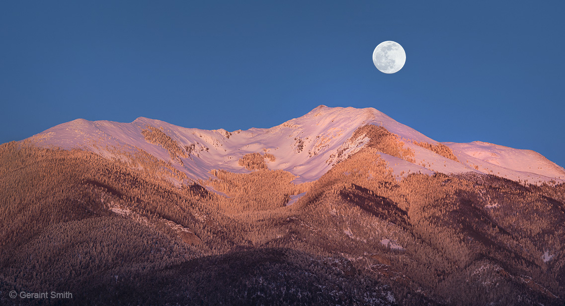 Wolf Moon rising Vallecito Mountain