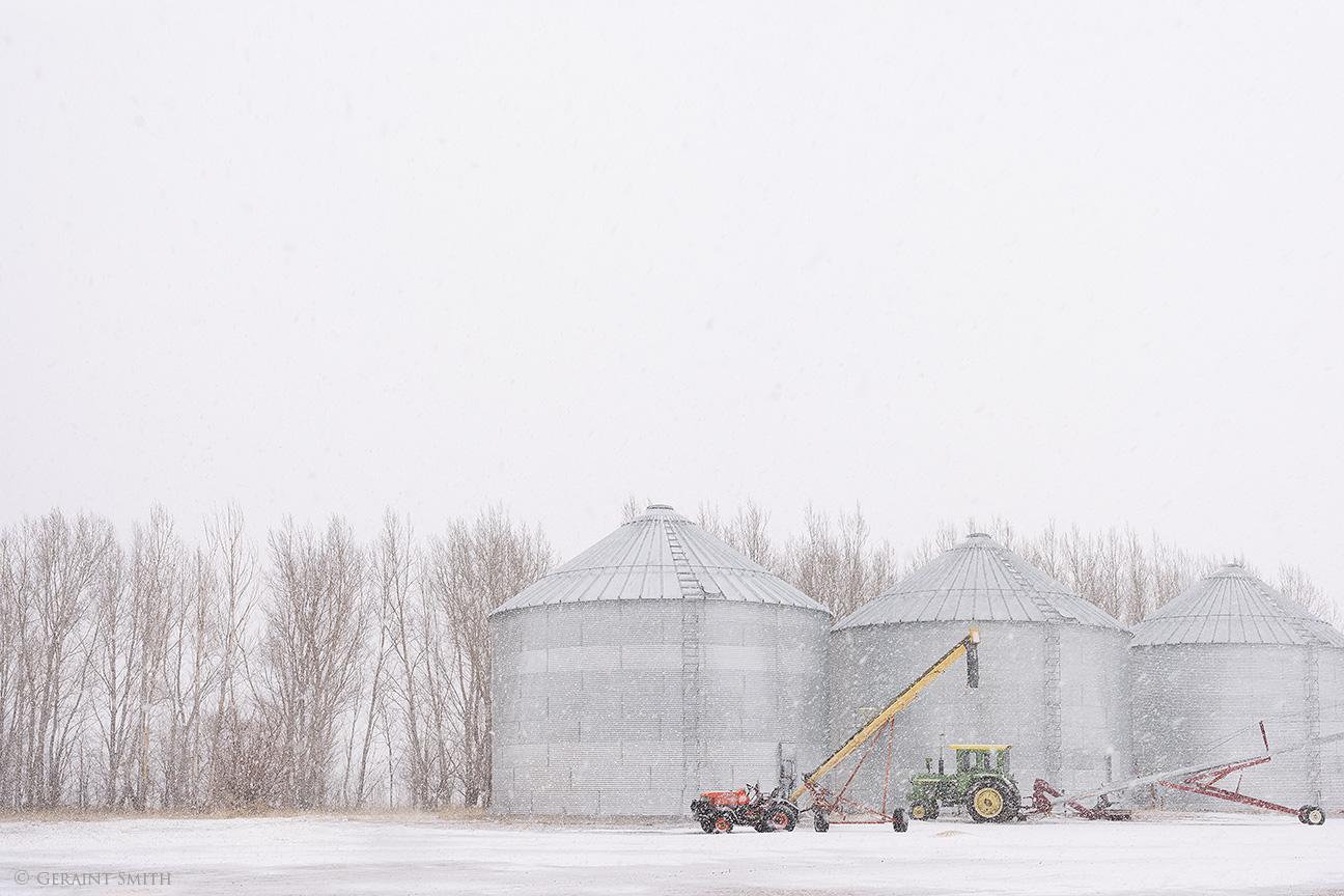 Grain silos, Colorado
