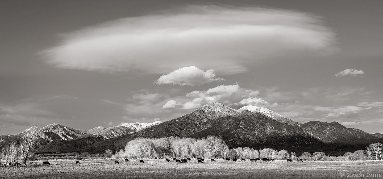 Taos Mountain (Pueblo Peak) Taos New Mexico.