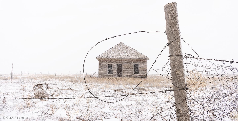 Barbed wire, homestead, San Luis Colorado.