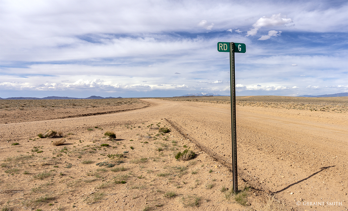 Road G San Luis Valley looking north
