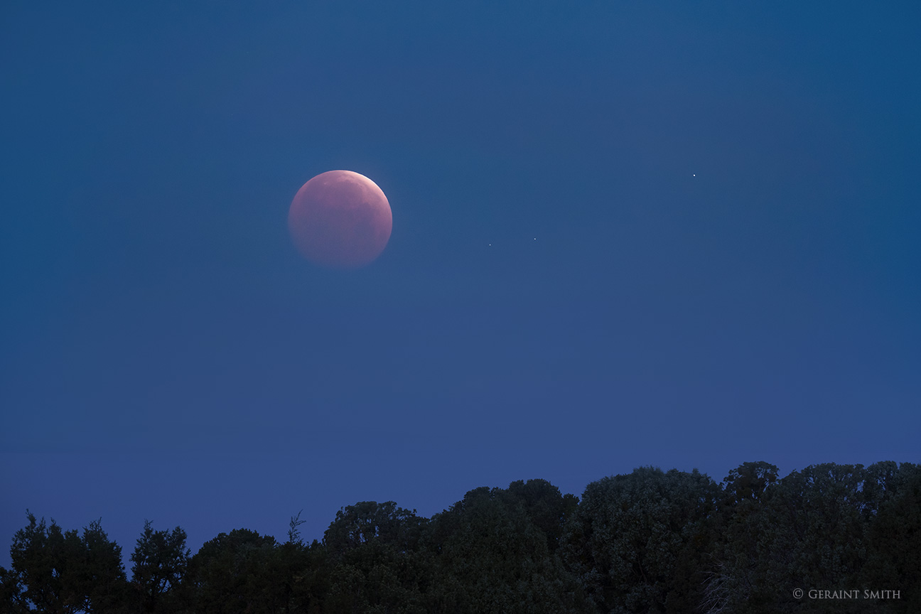 Full moon Lunar eclipse, setting this morning over the Taos Plateau
