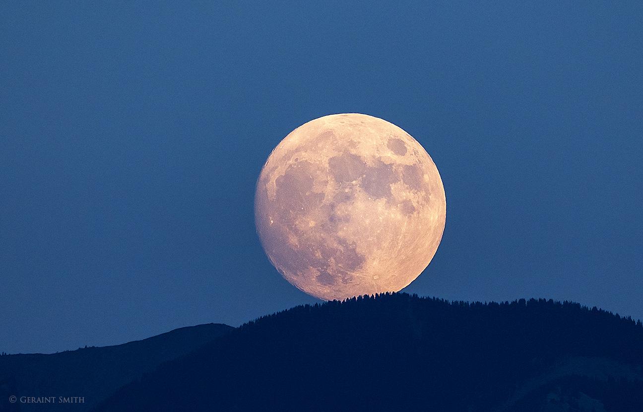 Full Moon rise Taos Mountain